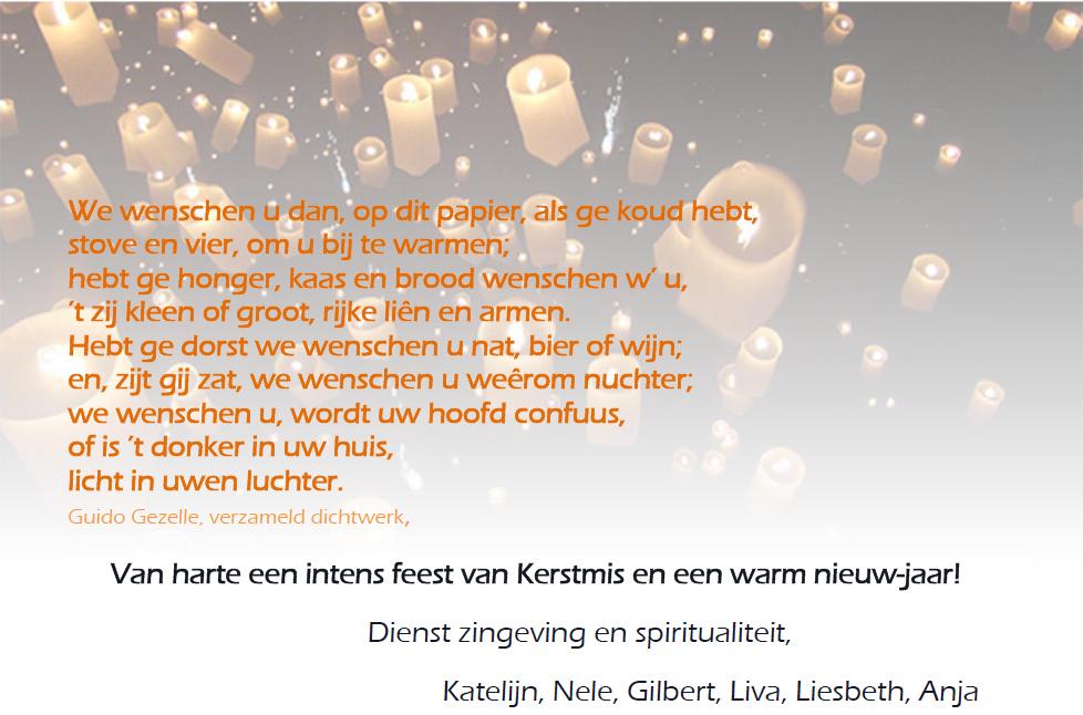 Verrassend Kerst- en nieuwjaarswensen 2014-2015 - Elisabeth - Pastoralezorg.be MJ-61